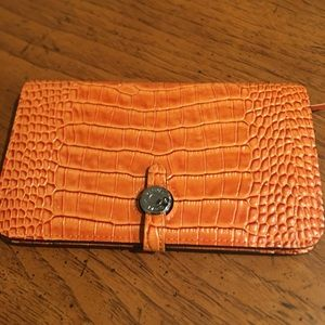 HERMES Classic Orange Dogon Duo Luxury Alligator
